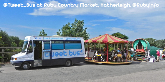 @Tweet_Bus is at Ruby Country Market, Hatherleigh. @RubyInfo