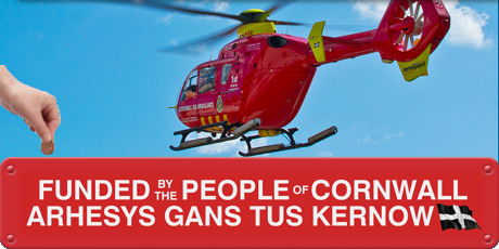 Send a pound to the sky - support Cornwall's Air Ambulance