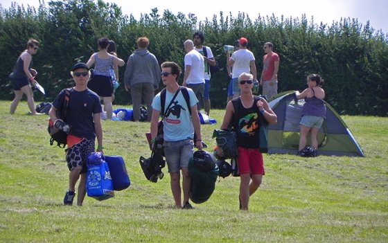 Tweep with tents arriving at Cornwall's @leopallooza festival. There's a big party brewing... :)