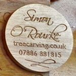 Simon O'Rourke - professional wood carver from Wrexham, North Wales.