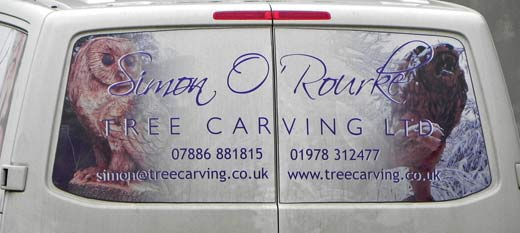 Simon O'Rourke - Tree carving expert from Wrexham North, Wales.